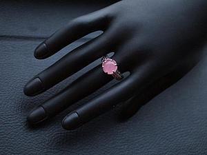 Аукцион!!Кольцо из серебра 925 пробы и розового кварца! | Ярмарка Мастеров - ручная работа, handmade