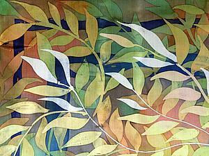 Мастер-класс: горячий батик. Рисуем тюльпаны и листья. Ярмарка Мастеров - ручная работа, handmade.