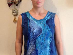 Валяем блузку на шёлке. | Ярмарка Мастеров - ручная работа, handmade