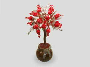 Дерево счастья из коралла и горного хрусталя: новое добавление товара | Ярмарка Мастеров - ручная работа, handmade