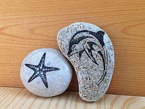Способ простого и быстрого переноса изображения на морской камешек. Видео мастер-класс | Ярмарка Мастеров - ручная работа, handmade