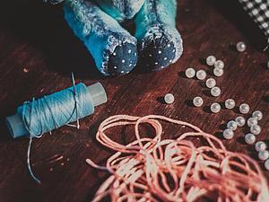 Мишка Есения в процессе | Ярмарка Мастеров - ручная работа, handmade