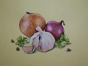 Рисуем акварелью натюрморт