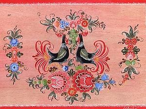 Мастер-класс по созданию композиции на плоскости в технике городецкой росписи. Ярмарка Мастеров - ручная работа, handmade.