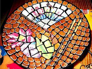 Декупажная мозаика на стекле. | Ярмарка Мастеров - ручная работа, handmade