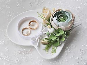 Создаём своими руками тарелочку для обручальных колец. Ярмарка Мастеров - ручная работа, handmade.