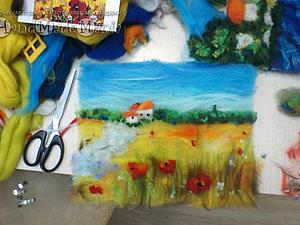 Рисуем картину шерстью.Картина на выбор! | Ярмарка Мастеров - ручная работа, handmade