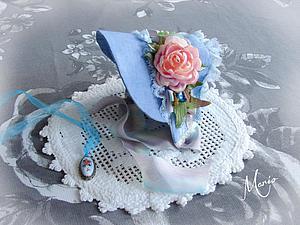Шьем очаровательную шляпку для куклы. Ярмарка Мастеров - ручная работа, handmade.