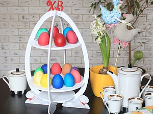 Мастерим из фанеры подставку для пасхальных яиц | Ярмарка Мастеров - ручная работа, handmade