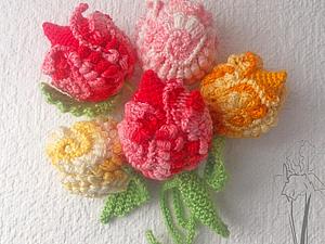 Мини-тюльпаны с лепестками фриформ | Ярмарка Мастеров - ручная работа, handmade