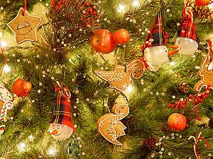 Украшаем ёлку рождественскими пряниками | Ярмарка Мастеров - ручная работа, handmade