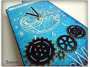 Настенные часы Тардис   Ярмарка Мастеров - ручная работа, handmade