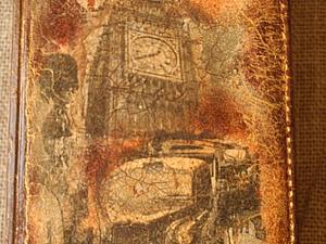 Декупаж на кожзаме. Двушаговый кракелюр ( шеллак+ гуммиарабик)   Ярмарка Мастеров - ручная работа, handmade