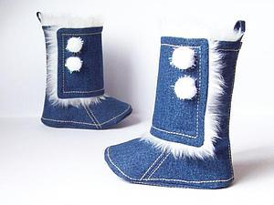 Утепленные джинсовые сапожки мастерской «Майский Жук»   Ярмарка Мастеров - ручная работа, handmade