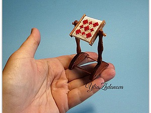 Как сделать миниатюрные кукольные пяльца. Ярмарка Мастеров - ручная работа, handmade.
