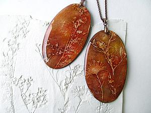 МК оттиски растений и создание украшений с ними | Ярмарка Мастеров - ручная работа, handmade