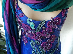 Мастер-класс: вышивка платья бисером. Часть вторая: подготовка рисунка, виды швов. Ярмарка Мастеров - ручная работа, handmade.