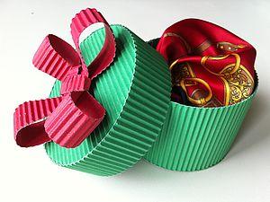 Подарочная упаковка для платочка, галстука или другого подарка за 15 минут. Ярмарка Мастеров - ручная работа, handmade.