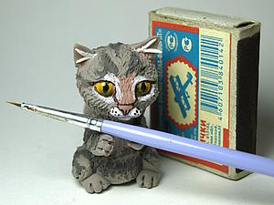 Миниатюрные котики: лепим из бархатного пластика. Ярмарка Мастеров - ручная работа, handmade.
