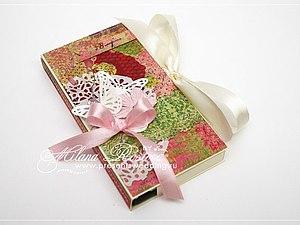 Скрапбукинг. Открытка-шоколадница к 8 марта | Ярмарка Мастеров - ручная работа, handmade