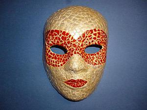 Видео мастер-класс: декорируем венецианскую маску в технике мозаики из яичной скорлупы. Ярмарка Мастеров - ручная работа, handmade.