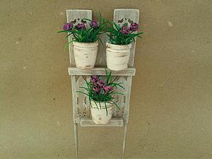 Мастерим декоративный забор с цветочными горшками для мини-садика. Ярмарка Мастеров - ручная работа, handmade.