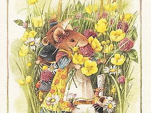 В гостях у мышек: очаровательные иллюстрации | Ярмарка Мастеров - ручная работа, handmade
