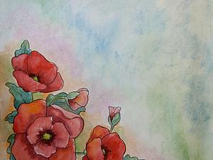 МК холодный батик с элементами свободной росписи   Ярмарка Мастеров - ручная работа, handmade