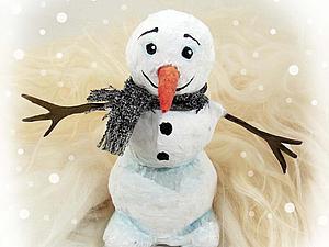 Мастерим с детьми: снеговик — легко и просто. Ярмарка Мастеров - ручная работа, handmade.