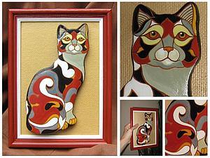 Мастер-класс: кошка из солёного теста в стиле De Rosa/Rinconada | Ярмарка Мастеров - ручная работа, handmade