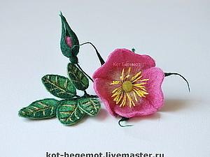 Мастер-класс по созданию шиповника на каркасе   Ярмарка Мастеров - ручная работа, handmade