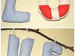 Делаем текстильные буквы в морском стиле. Ярмарка Мастеров - ручная работа, handmade.