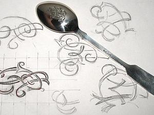 Делаем гравировку монограммы на ложке. Ярмарка Мастеров - ручная работа, handmade.