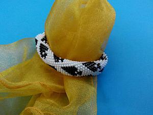 Делаем браслет из бисера «Пиковая дама». Ярмарка Мастеров - ручная работа, handmade.