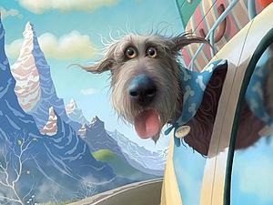 Пёс Тоби — забавный герой иллюстраций британца Stephen Hanson. Ярмарка Мастеров - ручная работа, handmade.