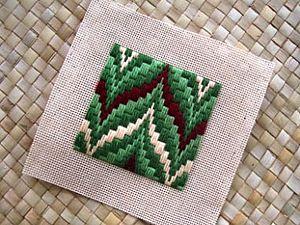 Имитация вышивки Bargello (барджелло, баргелло) из полимерной глины | Ярмарка Мастеров - ручная работа, handmade