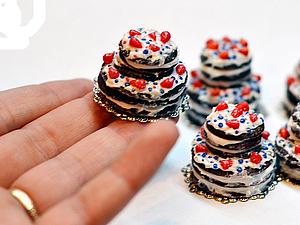 Вкусный тортик из полимерной глины за 30 шагов. Ярмарка Мастеров - ручная работа, handmade.