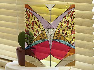 Мастер-класс по росписи по стеклу | Ярмарка Мастеров - ручная работа, handmade