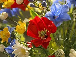 Лето навсегда. Букет полевых цветов. Фото   Ярмарка Мастеров - ручная работа, handmade