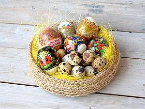 Вяжем крючком корзиночку для пасхальных яиц. Ярмарка Мастеров - ручная работа, handmade.