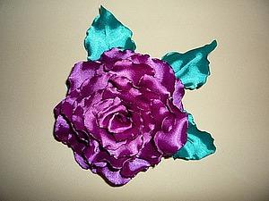 Мастер-класс по изготовлению текстильной розы из синтетического стрейч-атласа. Ярмарка Мастеров - ручная работа, handmade.