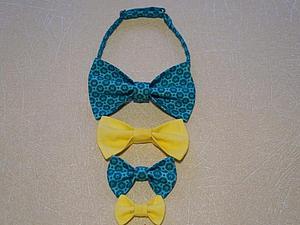 Мастер-класс: многоярусный галстук-бабочка   Ярмарка Мастеров - ручная работа, handmade