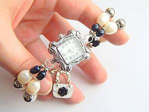 Мастер-класс: собираем часики с браслетом из жемчуга. Ярмарка Мастеров - ручная работа, handmade.