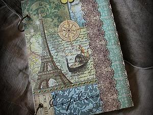 Мастер-класс по созданию блокнота «Мечты о Париже» в технике декупаж. | Ярмарка Мастеров - ручная работа, handmade