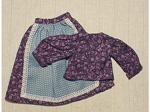 Шьем платье для текстильной куклы в винтажном стиле | Ярмарка Мастеров - ручная работа, handmade