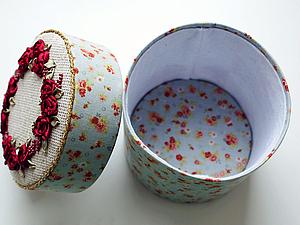Шкатулка с вышивкой | Ярмарка Мастеров - ручная работа, handmade