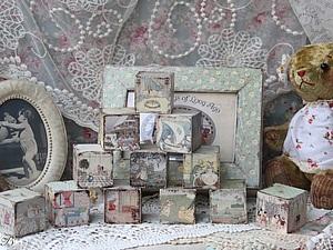 Кубики   Ярмарка Мастеров - ручная работа, handmade
