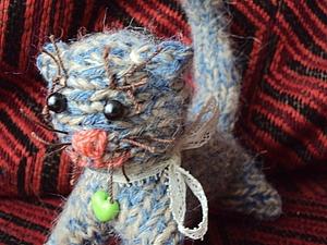 Легко!Котёнок вязаный спицами | Ярмарка Мастеров - ручная работа, handmade