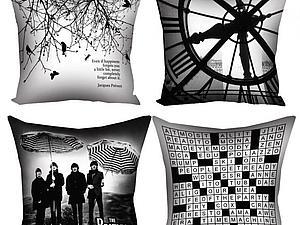 Декоративные подушки коллекция «Black & White»   Ярмарка Мастеров - ручная работа, handmade