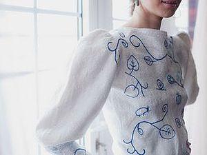 Мастер-класс Лены Баймут по созданию валяного свитера с пришивным рукавом (секретный шов) в Харькове   Ярмарка Мастеров - ручная работа, handmade